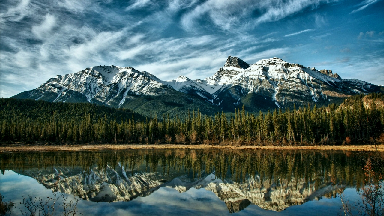 Alberta Mountains Canada for 1280 x 720 HDTV 720p resolution