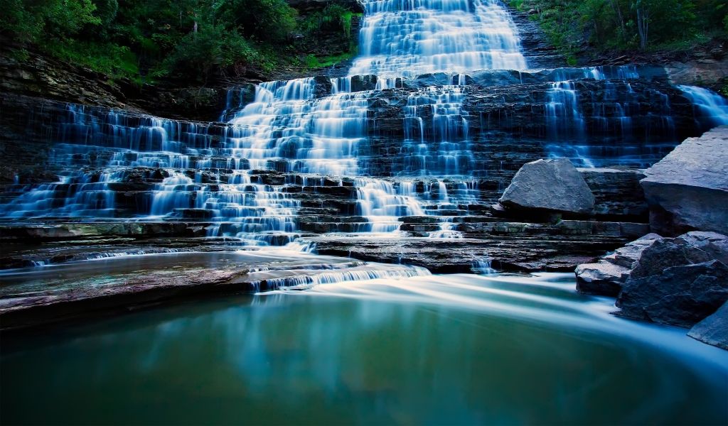 Albion Falls Ontario Canada for 1024 x 600 widescreen resolution