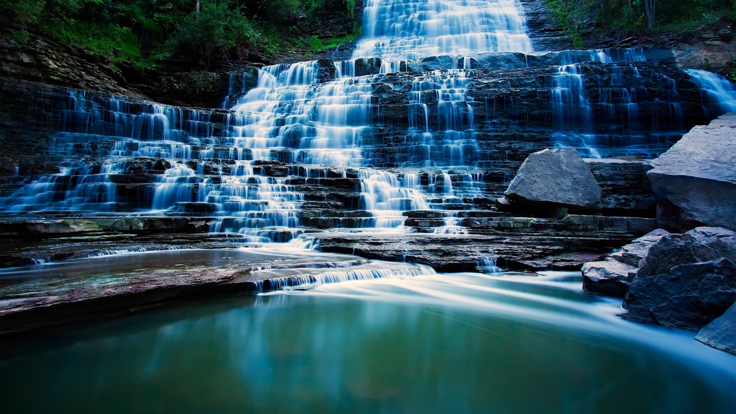 Albion Falls Ontario Canada for 2560x1440 HDTV resolution