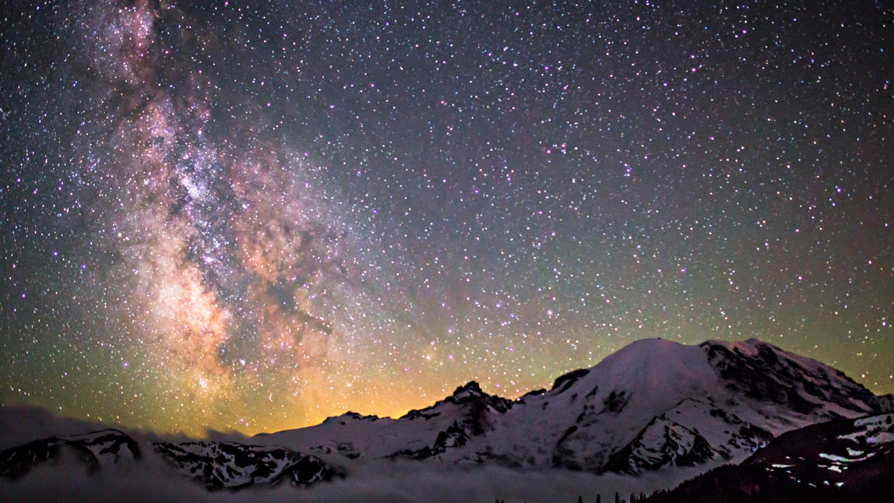 Amazing Milky Way for 1280 x 720 HDTV 720p resolution