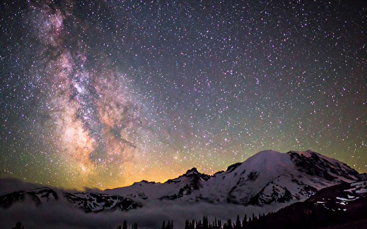 Amazing Milky Way for 1280 x 800 widescreen resolution