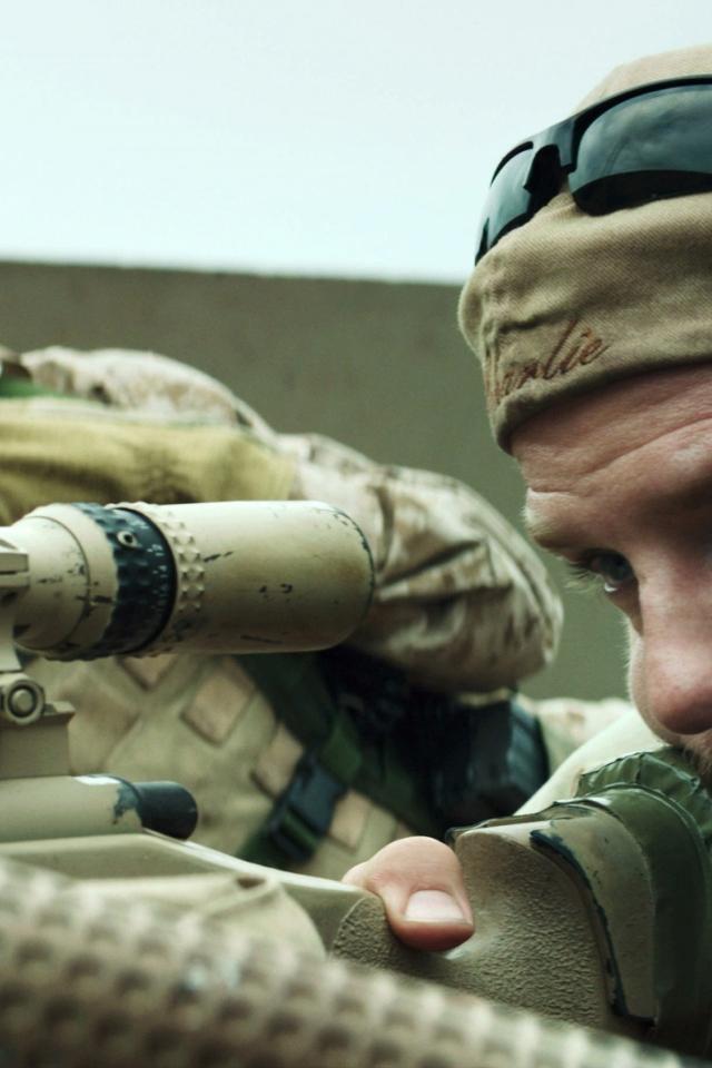 American Sniper Movie Scene 640 X 960 Iphone 4 Wallpaper