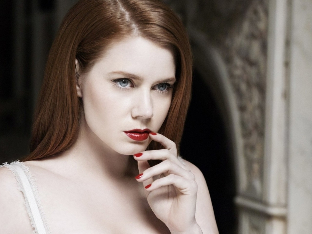 Amy Adams Red Lips for 1024 x 768 resolution
