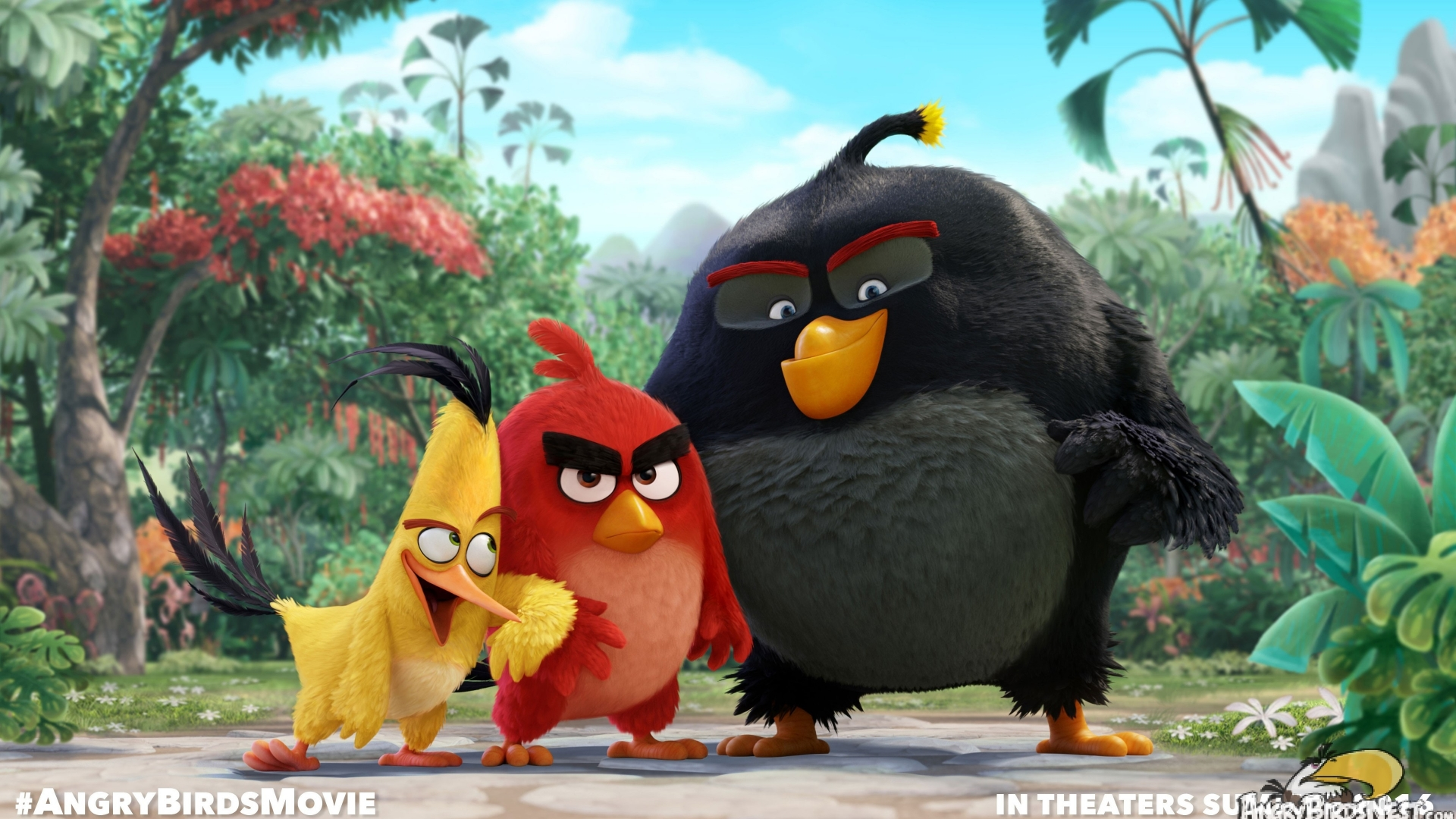 Angry Birds Movie for 1920 x 1080 HDTV 1080p resolution