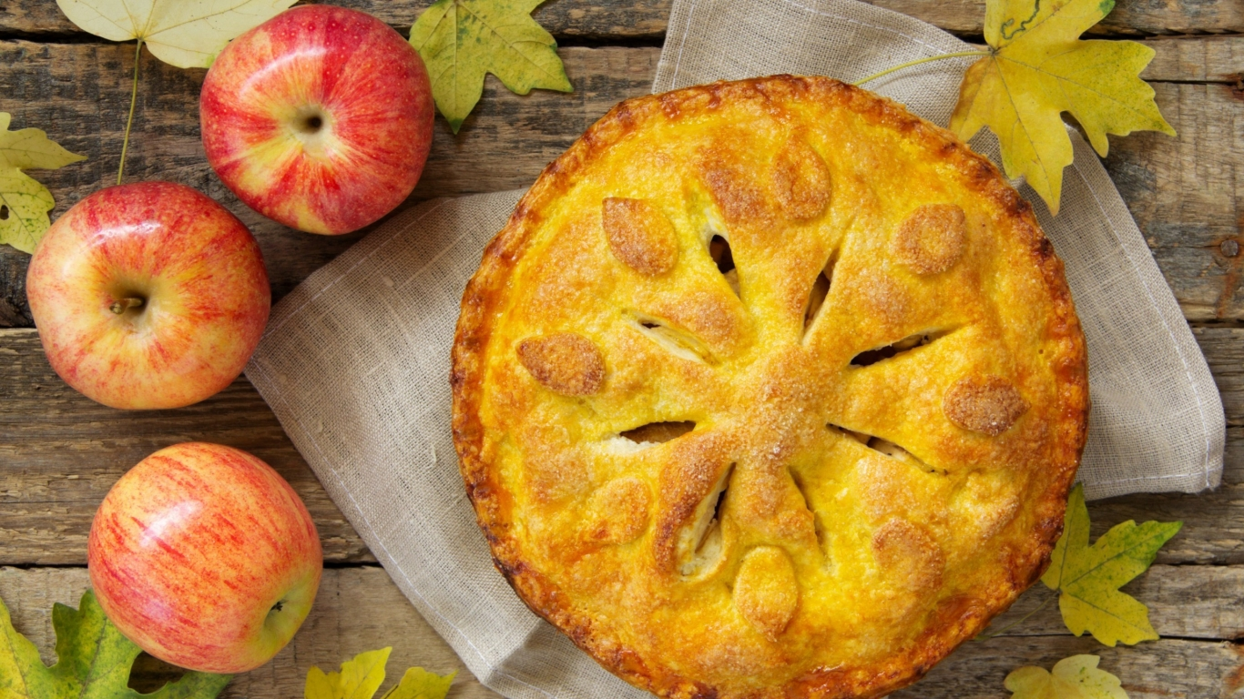 Apple Pie for 1366 x 768 HDTV resolution