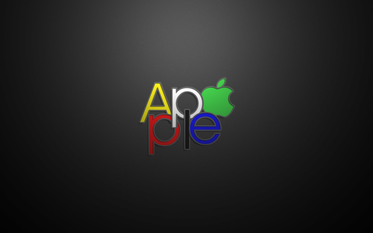 Apple Text Logo for 1280 x 800 widescreen resolution