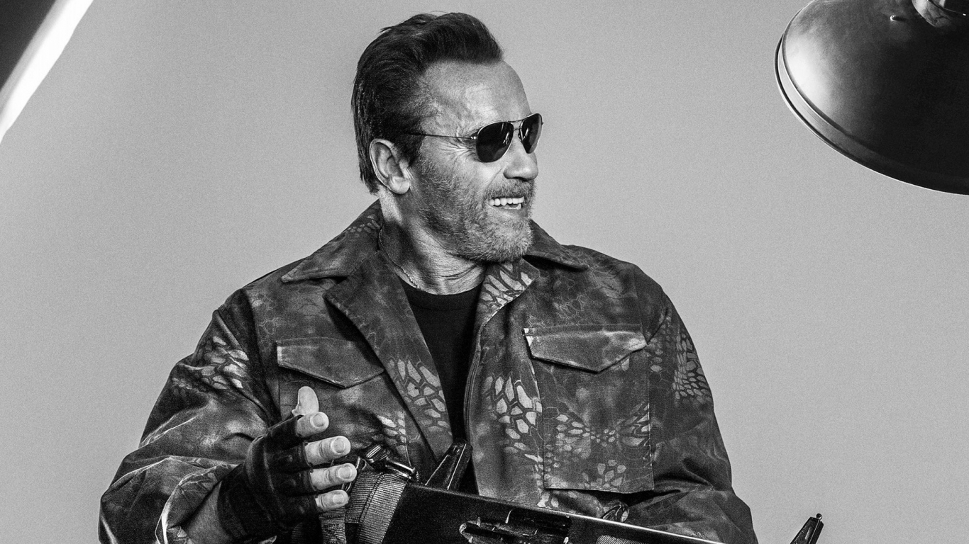 Arnold Schwarzenegger The Expendables 3 for 1366 x 768 HDTV resolution