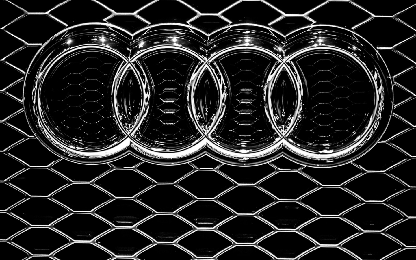Audi Grille for 1440 x 900 widescreen resolution
