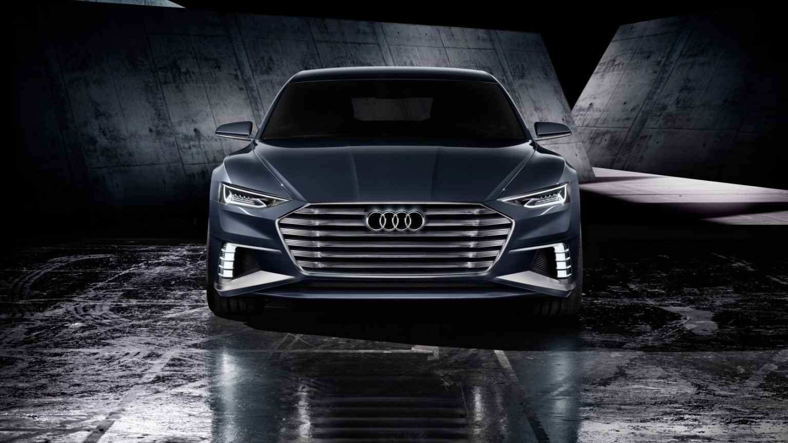 Audi Prologue Avant Front View for 1536 x 864 HDTV resolution