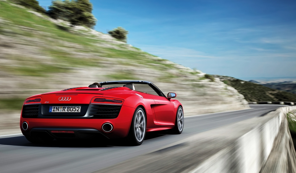 Audi R8 Spyder Speed for 1024 x 600 widescreen resolution