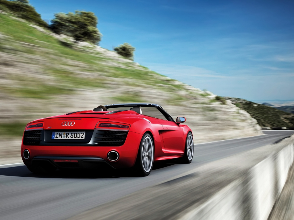 Audi R8 Spyder Speed for 1024 x 768 resolution