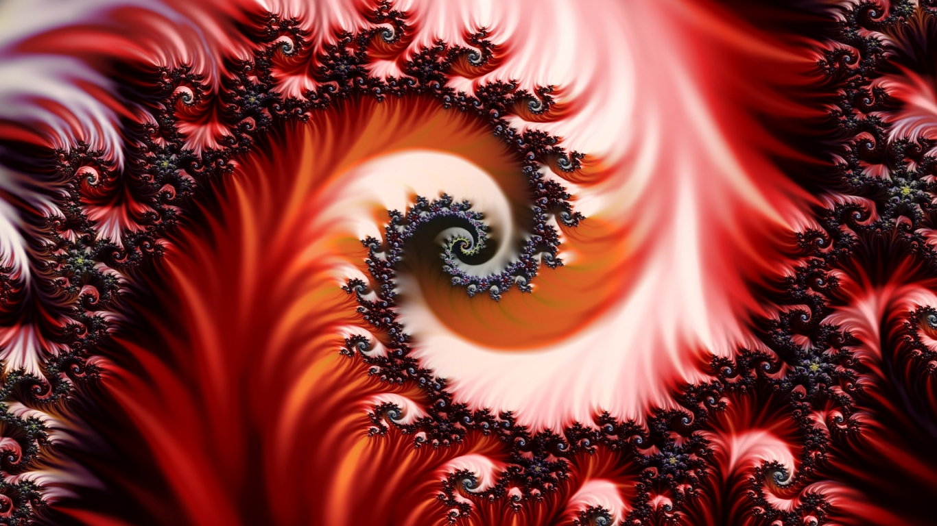 Background fractal for 1366 x 768 HDTV resolution