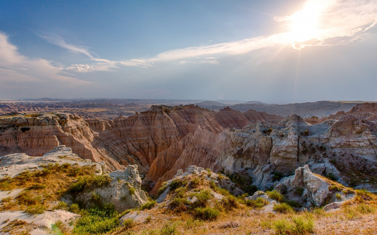 Badlands National Park  for 1280 x 800 widescreen resolution
