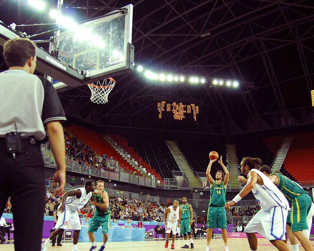 Basketball on the Olympic Park for 1280 x 1024 resolution