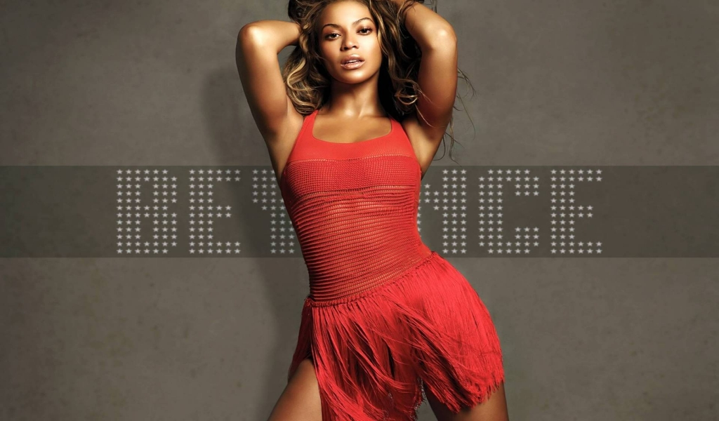 Beautiful Beyonce for 1024 x 600 widescreen resolution