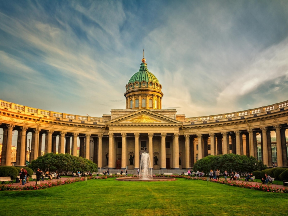 Beautiful Kazan Cathedral St. Petersburg for 1152 x 864 resolution