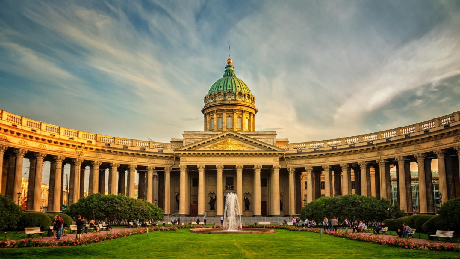 Beautiful Kazan Cathedral St. Petersburg for 1536 x 864 HDTV resolution