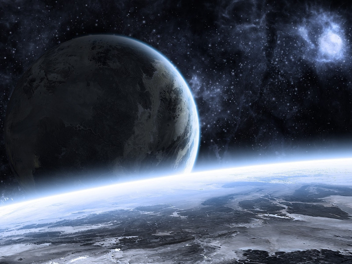 Beautiful Space Landscape for 1152 x 864 resolution