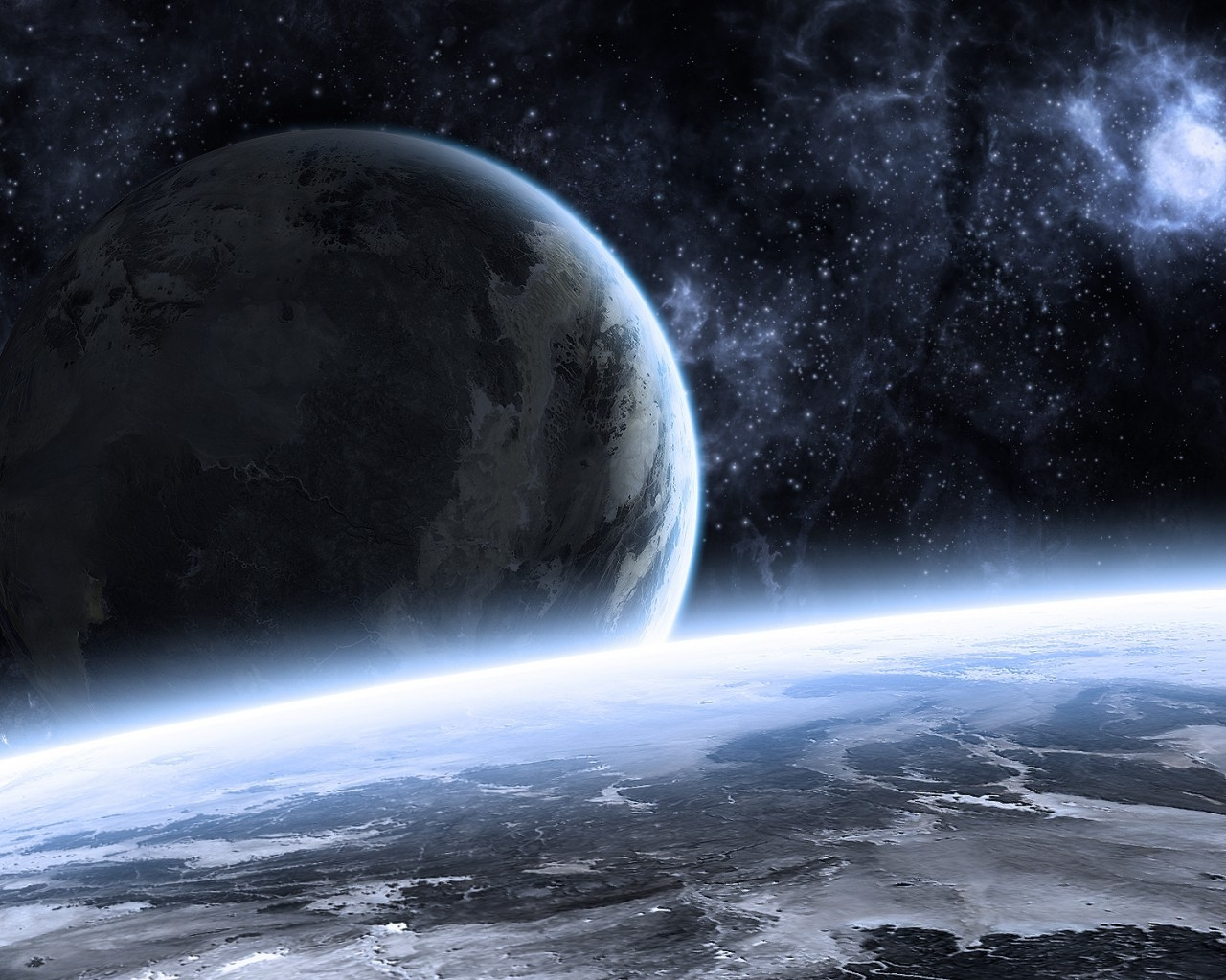 Beautiful Space Landscape for 1280 x 1024 resolution