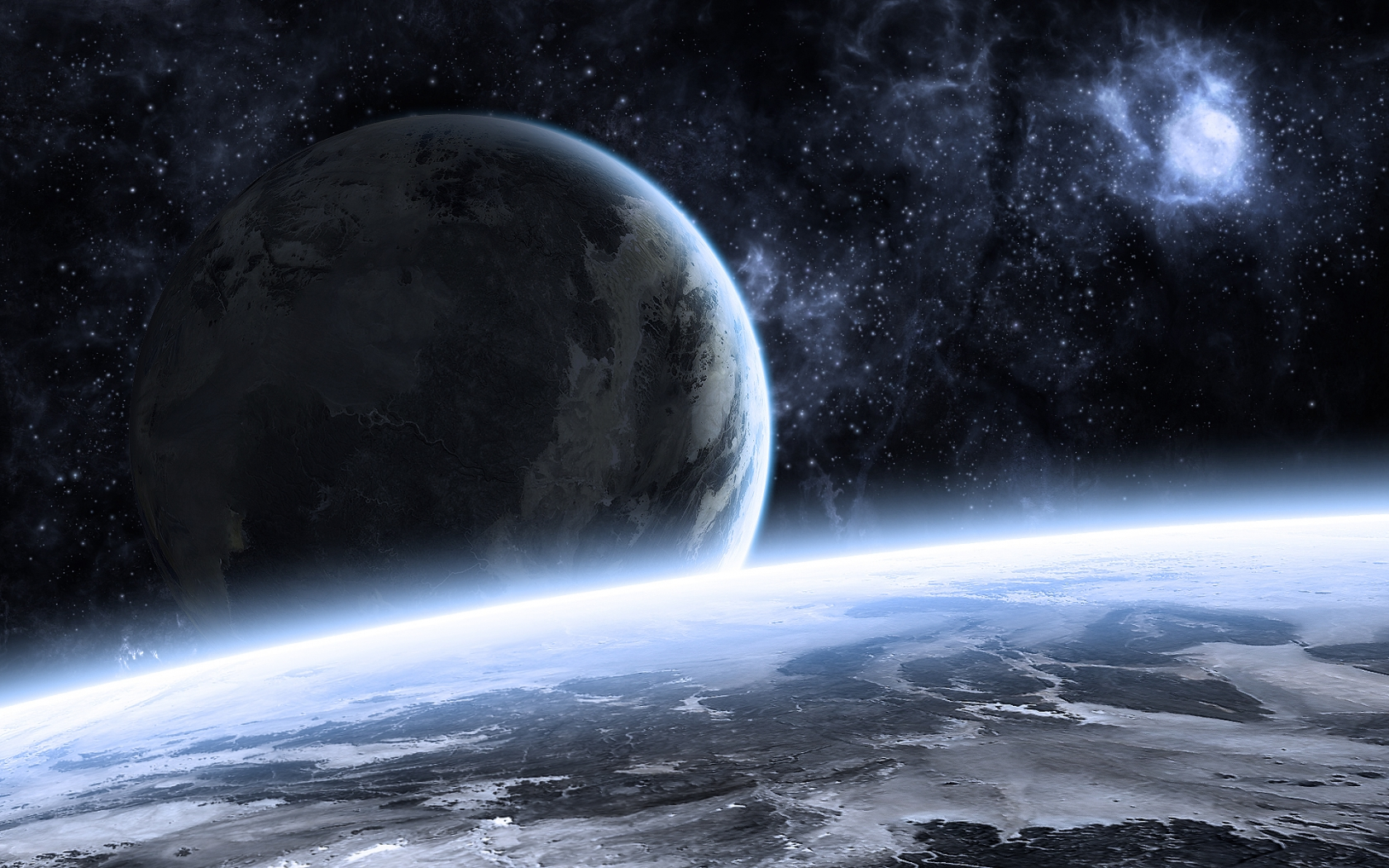 Beautiful Space Landscape for 1680 x 1050 widescreen resolution