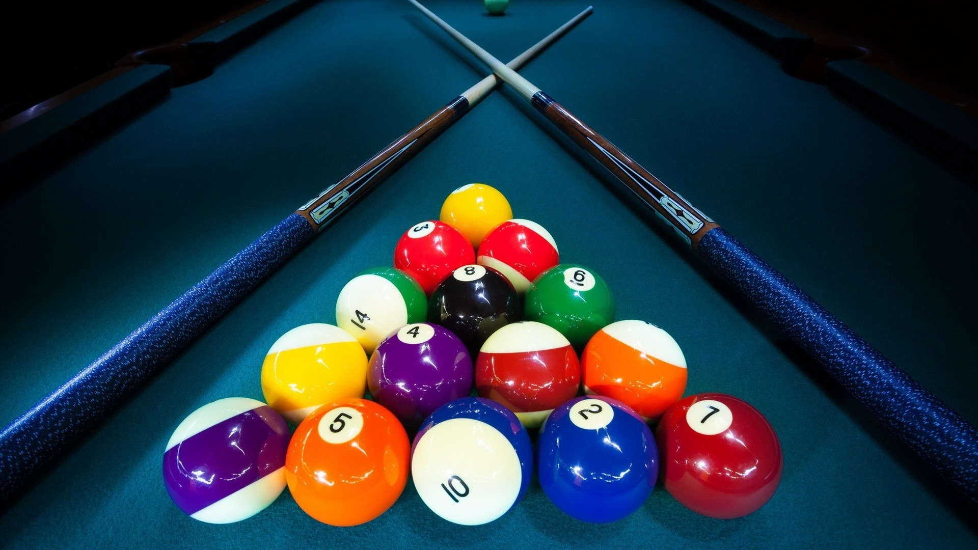 Billiards Game Table for 1920 x 1080 HDTV 1080p resolution