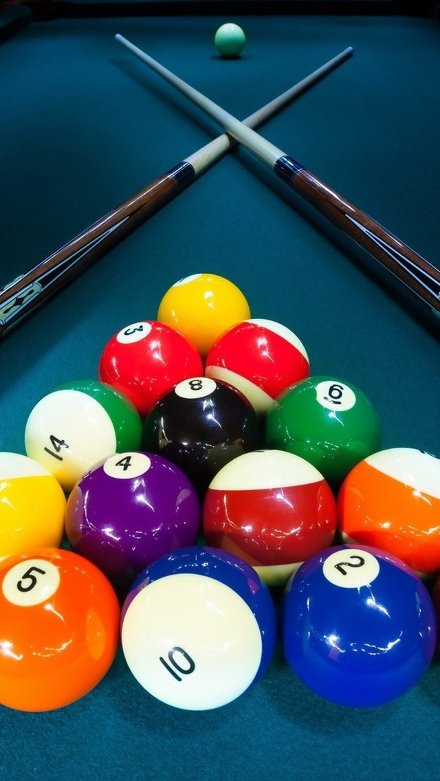 Billiards Game Table for 640 x 1136 iPhone 5 resolution