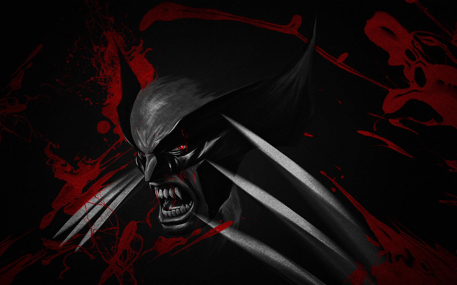 Black And Red Wolverine Hd Wallpaper Wallpaperfx