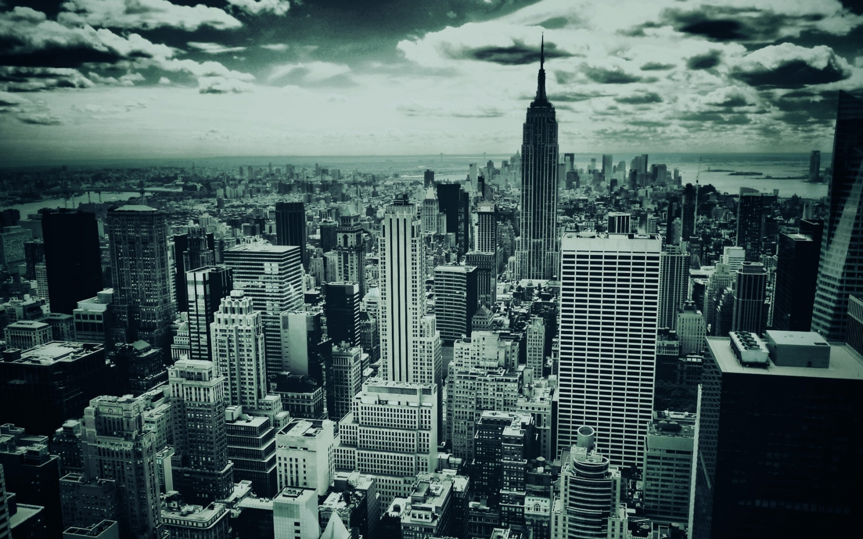 Black and White New York for 1680 x 1050 widescreen resolution