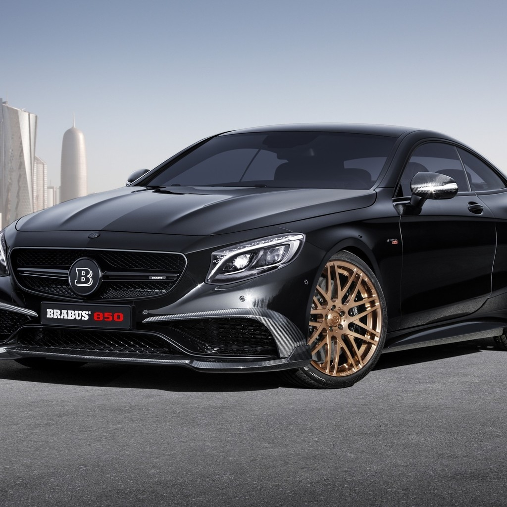 Black Mercedes Benz S63 AMG Brabus  for 1024 x 1024 iPad resolution