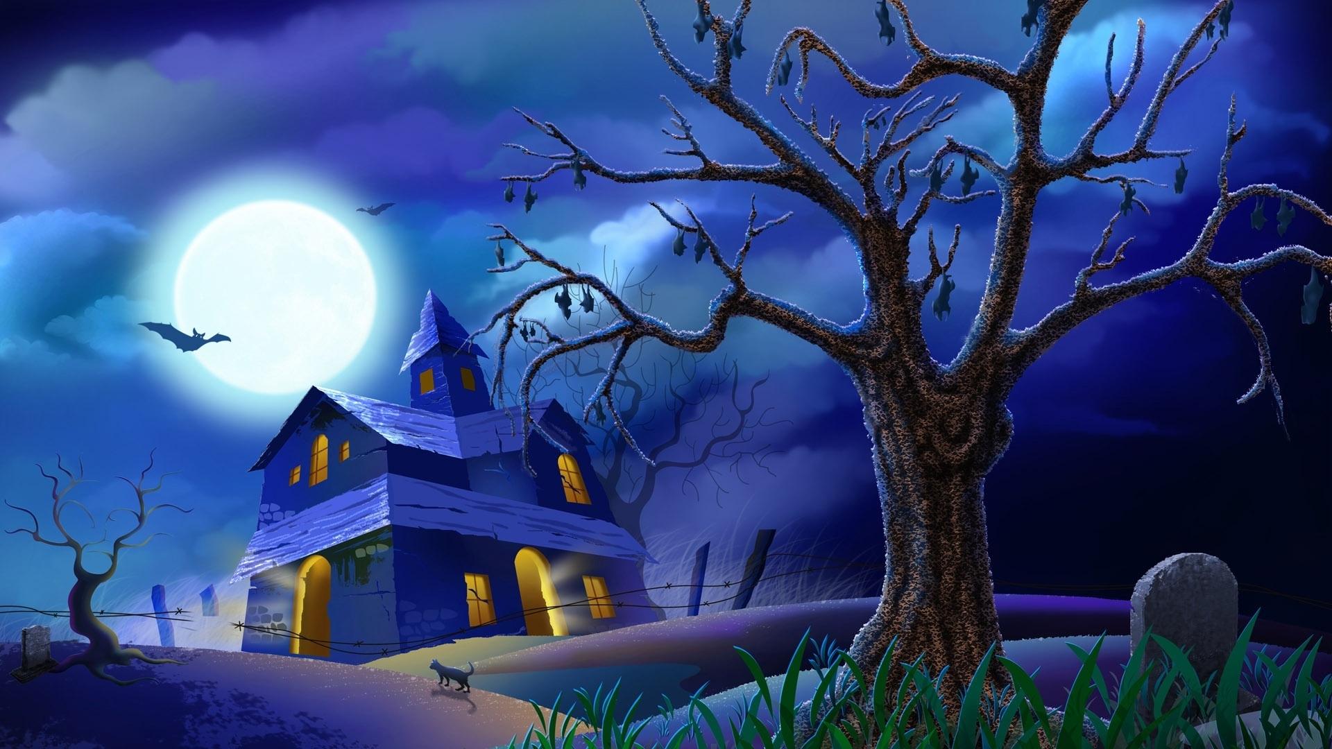 Halloween blue