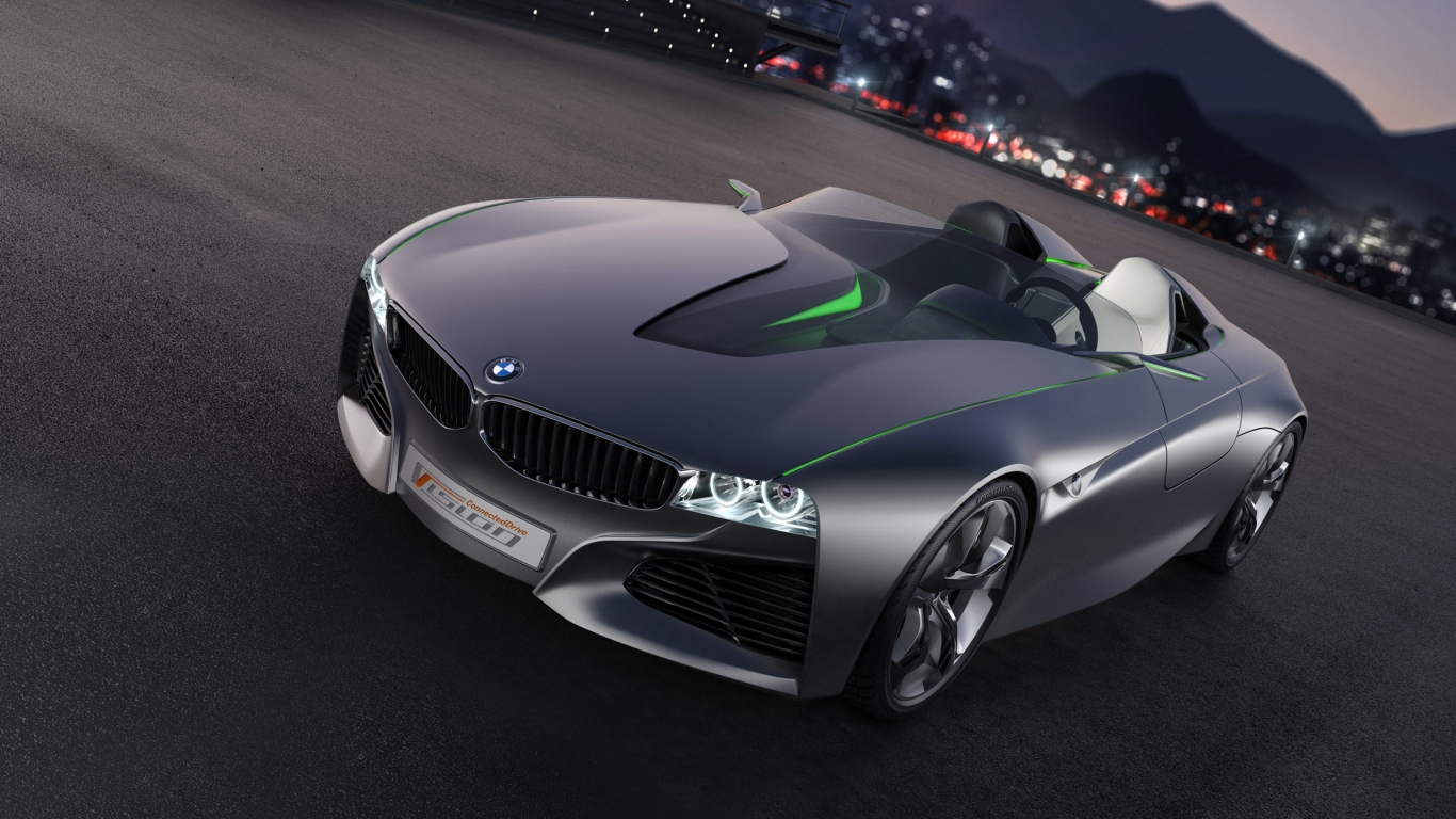 BMW Vision Connected Drive Concept for 1366 x 768 HDTV resolution