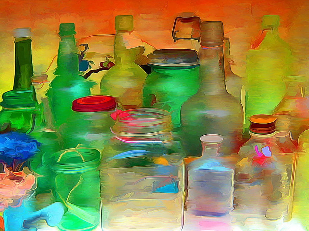 Bottles and Jars for 1024 x 768 resolution