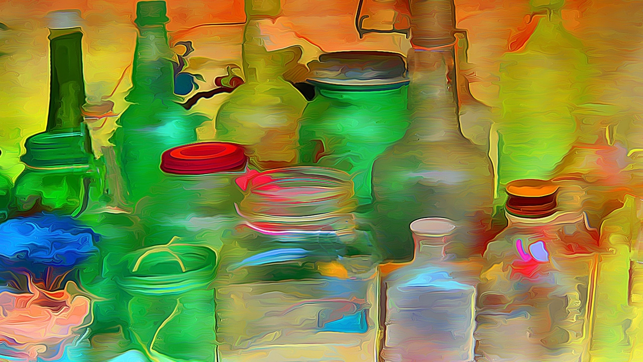 Bottles and Jars for 1280 x 720 HDTV 720p resolution