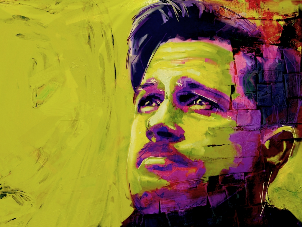Brad Pitt Painting for 1024 x 768 resolution