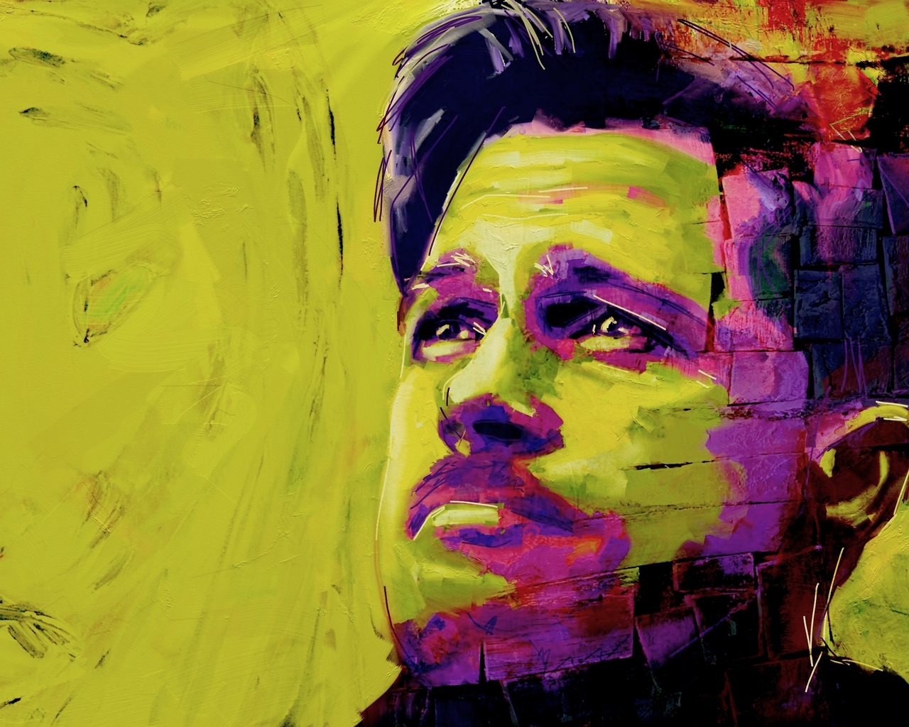 Brad Pitt Painting for 1280 x 1024 resolution