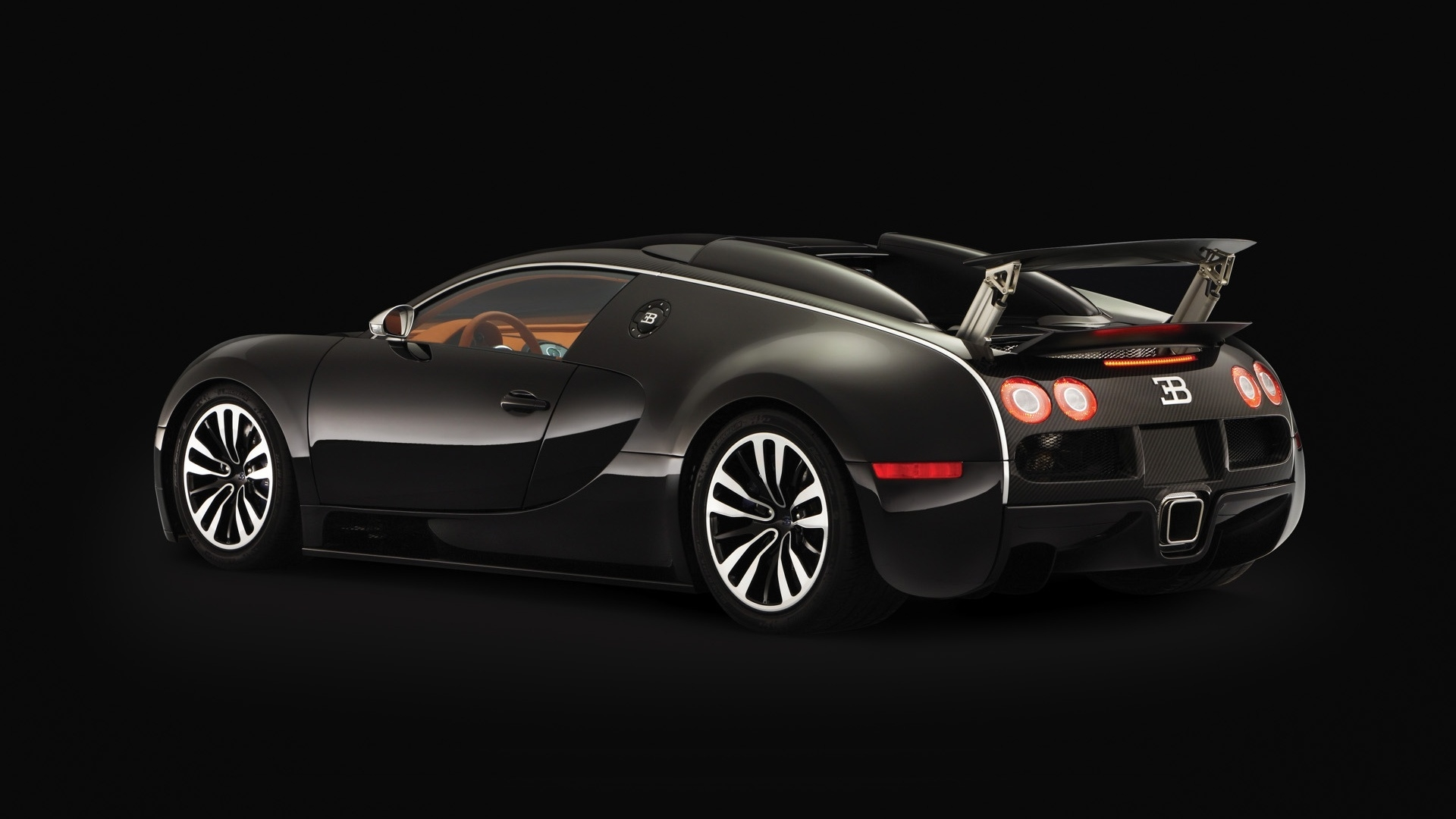 bugatti veyron sang noir 2008 rear angle 1920 x 1080. Black Bedroom Furniture Sets. Home Design Ideas