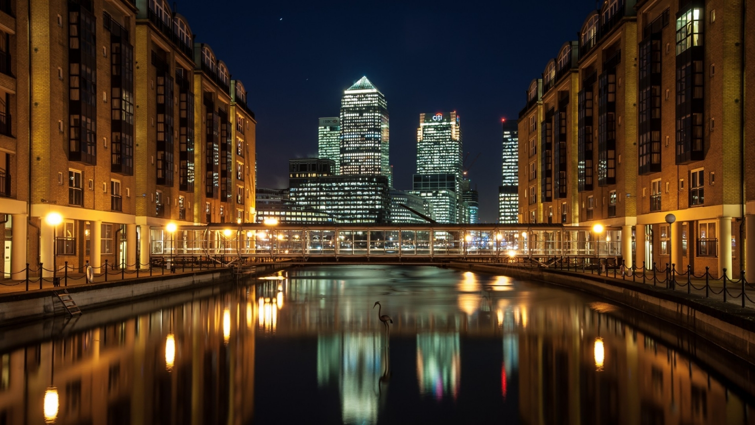 Canary Wharf View for 1536 x 864 HDTV resolution