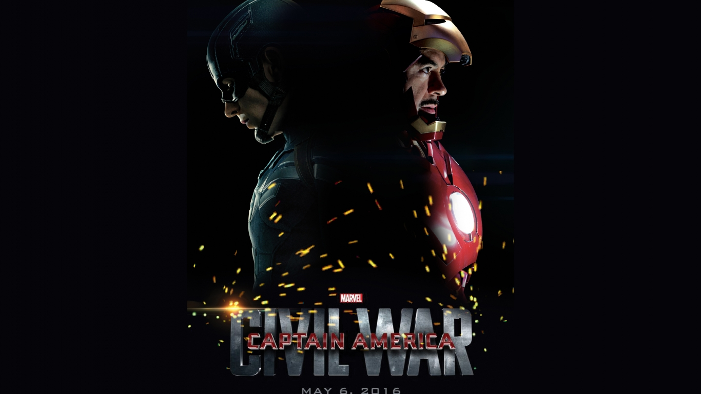 Captain America Civil War 2016 for 1366 x 768 HDTV resolution