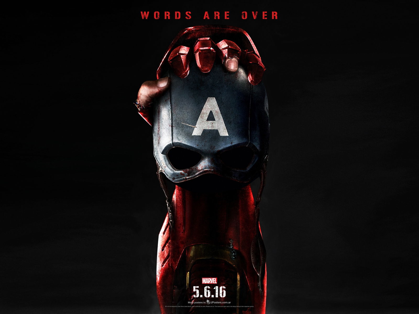 Captain America Civil War Poster 2016 for 1600 x 1200 resolution