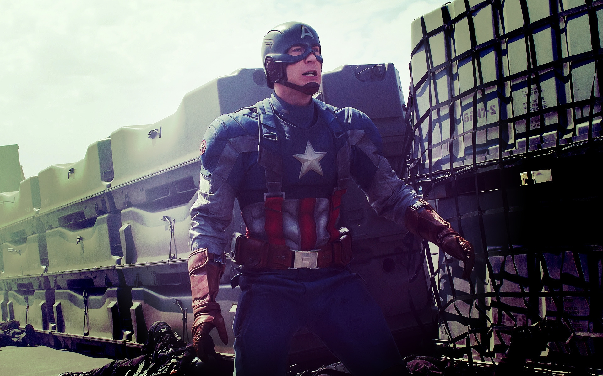 Captain America in Action for 1920 x 1200 widescreen resolution