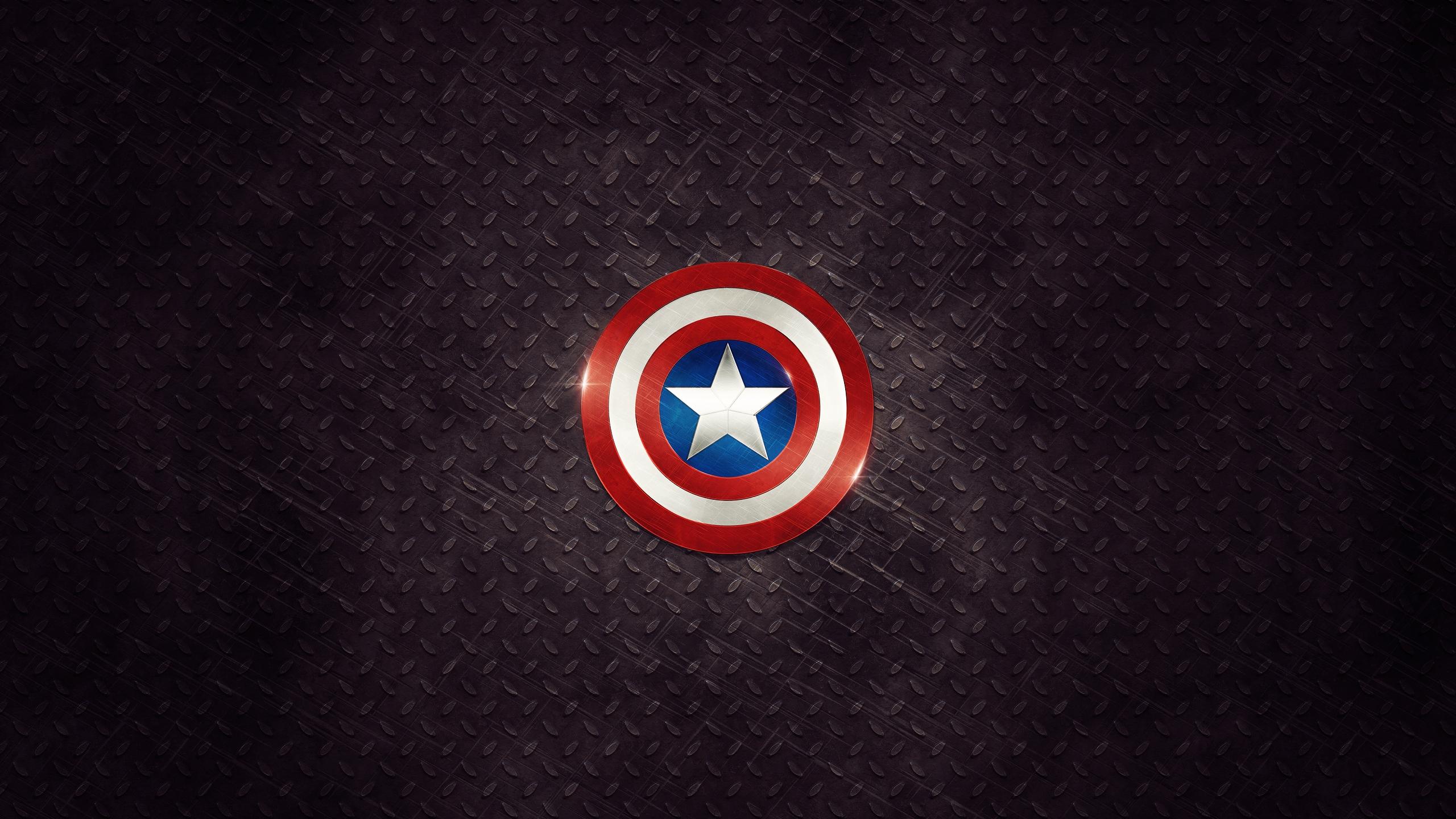 Captain America Logo 2560x1440 Hdtv Wallpaper