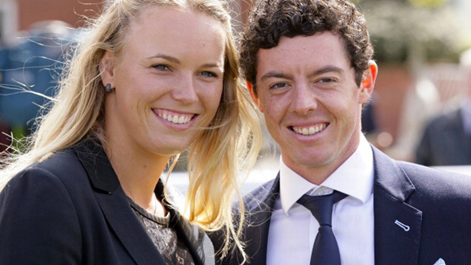 Caroline Wozniacki and Rory McIlroy for 1536 x 864 HDTV resolution