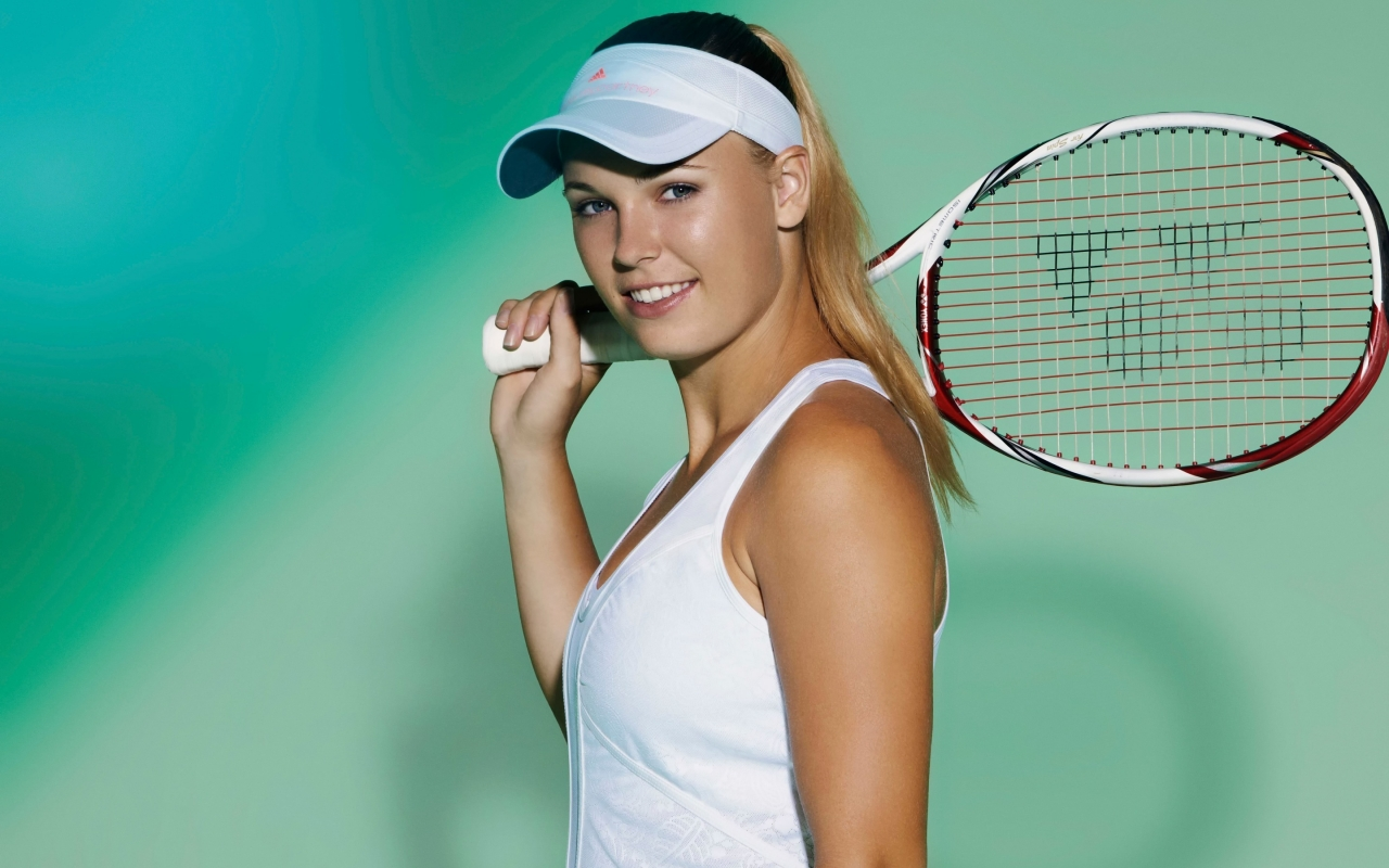 Caroline Wozniacki Danish Tennis Player for 1280 x 800 widescreen resolution