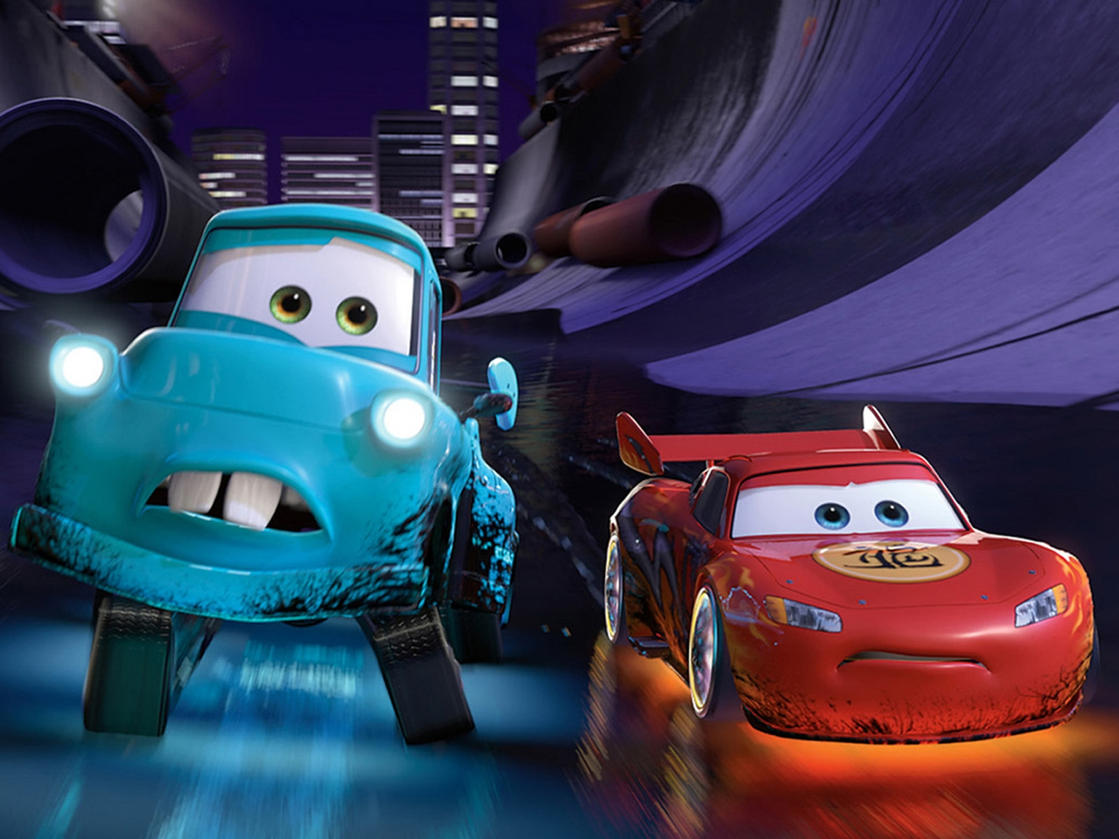 Cars 2 Lightning McQueen and Mater for 1600 x 1200 resolution