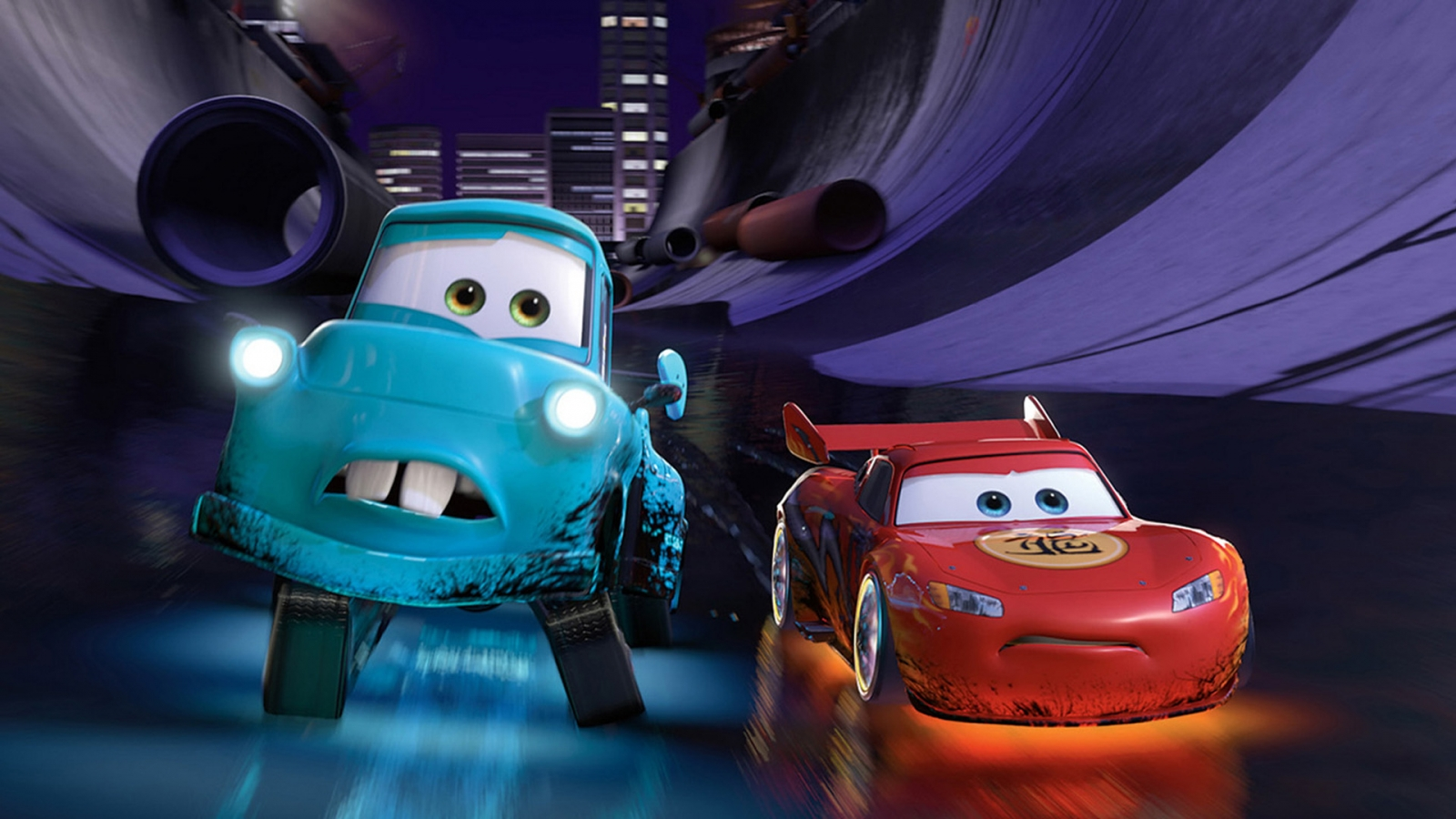 Cars 2 Lightning McQueen and Mater for 1600 x 900 HDTV resolution