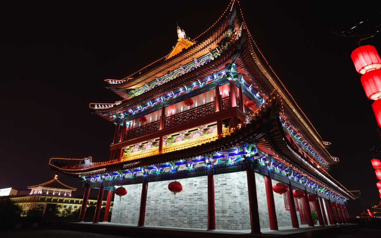 Chinese Architecture for 1280 x 800 widescreen resolution