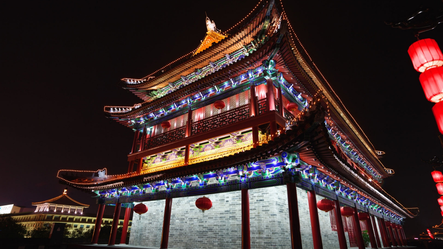 Chinese Architecture for 1536 x 864 HDTV resolution