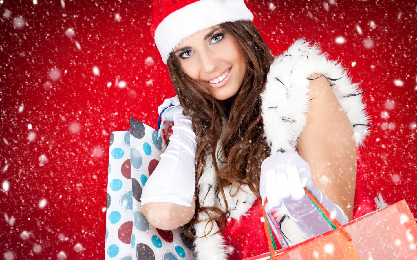 Christmas Beautiful Girl for 1440 x 900 widescreen resolution