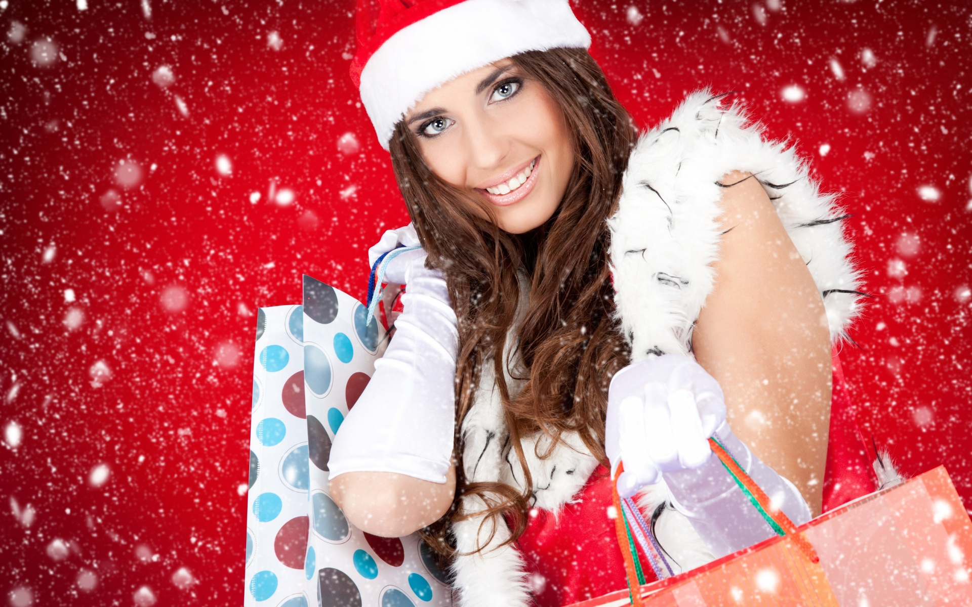 Christmas Beautiful Girl for 1920 x 1200 widescreen resolution