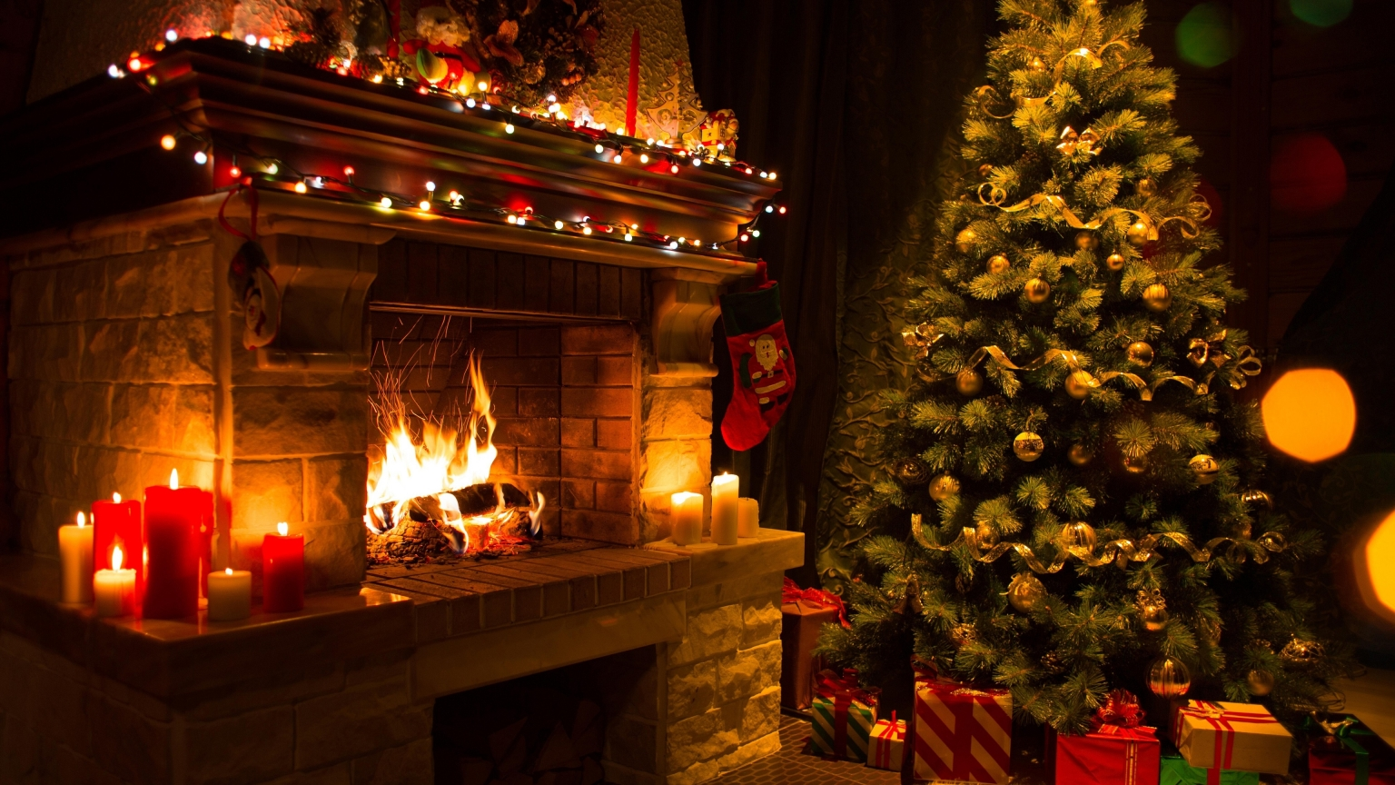 Christmas Home Decorations for 1536 x 864 HDTV resolution